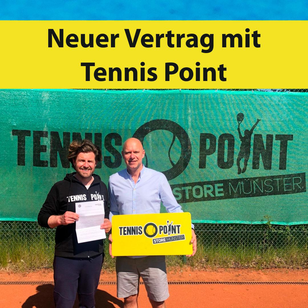 Neuer Vertrag mit Tennis-Point