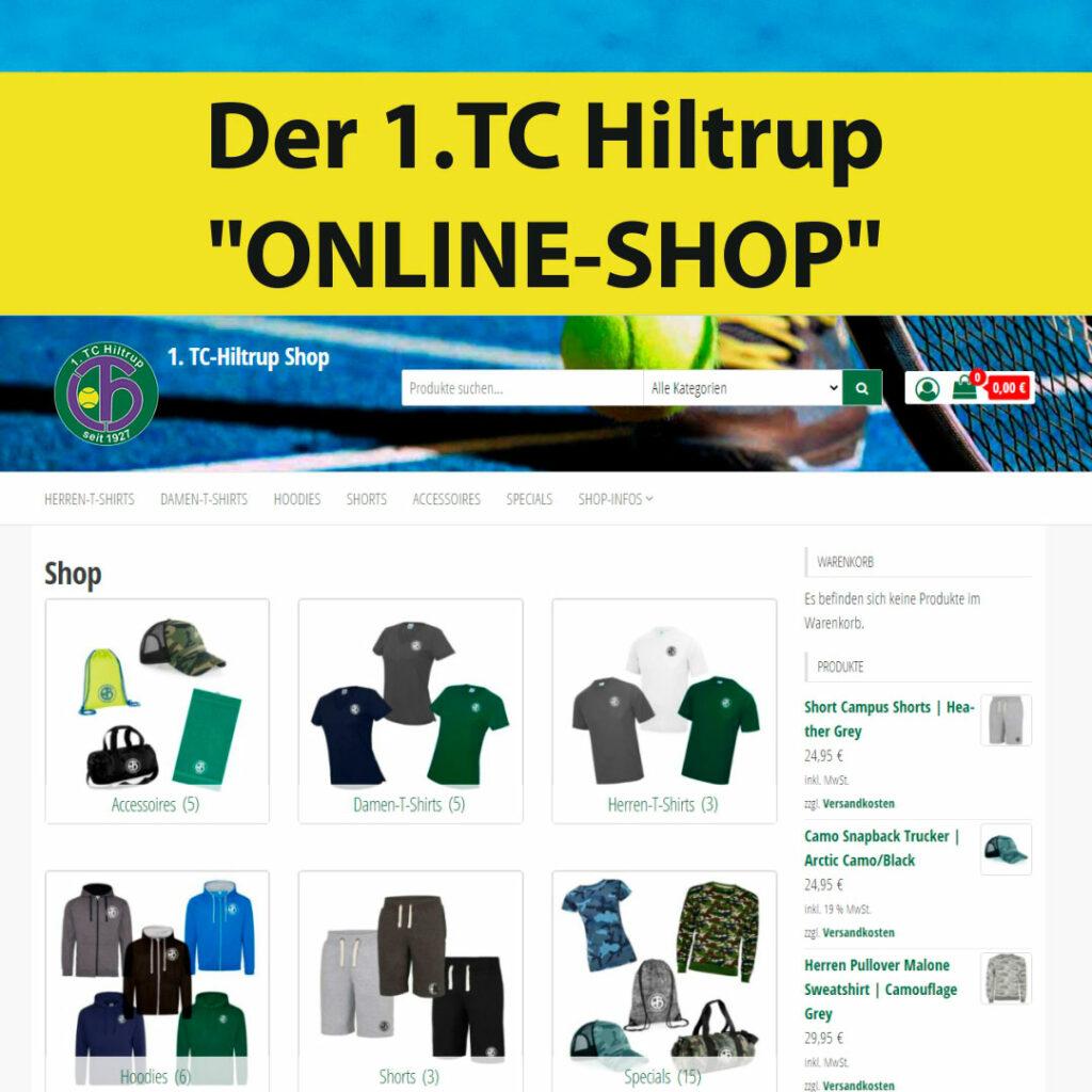 "Der 1. TC Hiltrup """"ONLINE-SHOP"""