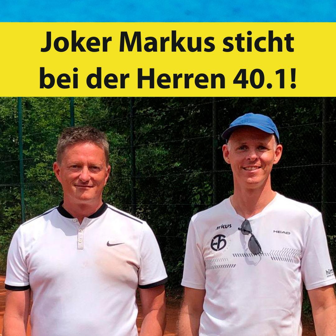 Joker Markus sticht bei der Herren 40.1
