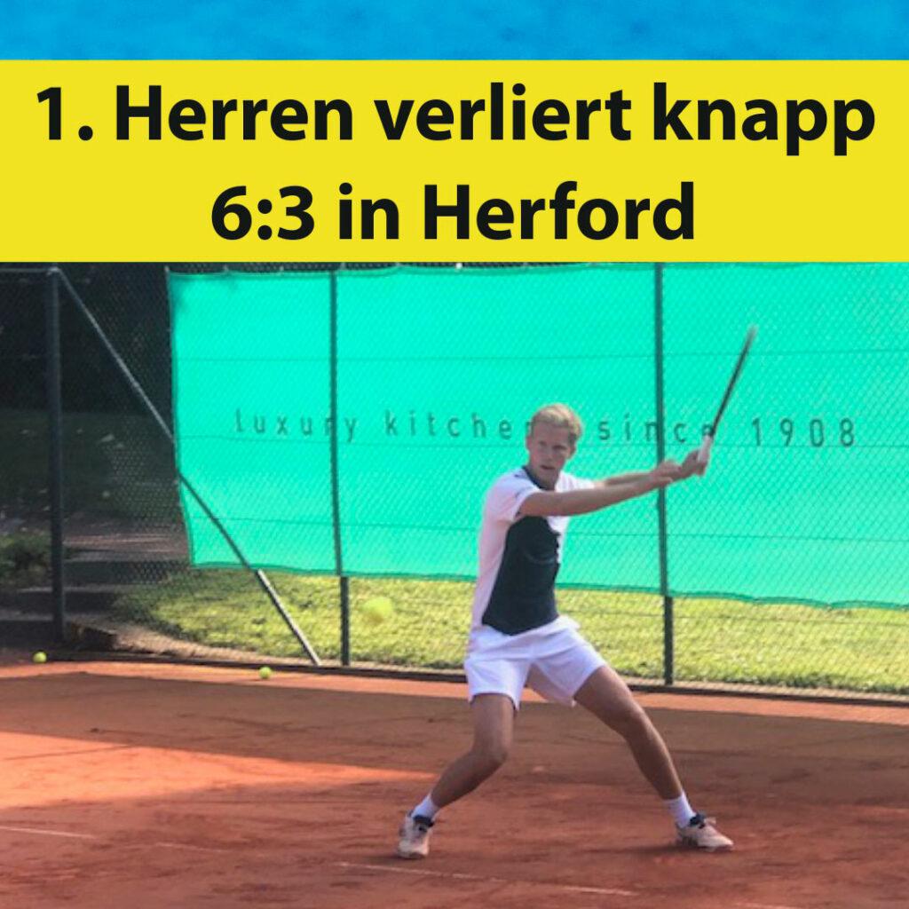 1. Herren verliert knapp 6:3 gegen Herford