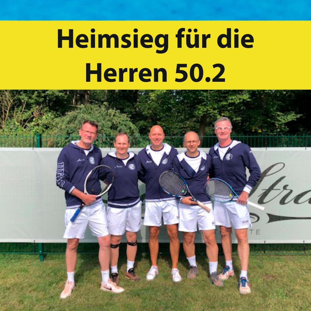 Heimsieg für die Herren 50.2 beim letzten Spieltag