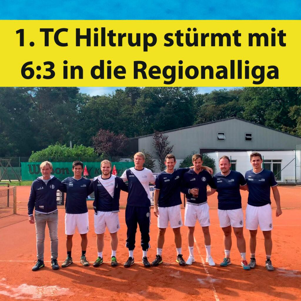 1. TC Hiltrup stürmt mit 6:3 in die Regionalliga