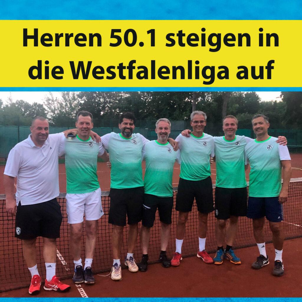 Herren 50.1 steigen in die Westfalenliga auf